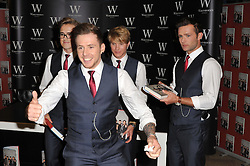 McFly booksigning.  British pop rockers turned reality stars sign copies of their debut book, Unsaid Things: Our Story, detailing their rise to fame and stories from their own lives. Waterstones, London, W1J 9HD, United Kingdom, October 11, 2012. Photo by Nils Jorgensen / i-Images.