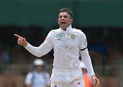 July 19, 2018 - Colombo, Sri Lanka - South African cricketer Keshav Maharaj during the first day of the 2nd test cricket match between Sri Lanka and South Africa at SSC International Cricket ground, Colombo, Sri Lanka on Friday 20 July 2018. (Credit Image: © Tharaka Basnayaka/NurPhoto via ZUMA Press)