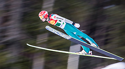 14.12.2013, Nordische Arena, Ramsau, AUT, FIS Nordische Kombination Weltcup, Skisprung, Wettkampfdurchgang, im Bild Eric Frenzel (GER) // Eric Frenzel (GER) during Ski Jumping of FIS Nordic Combined World Cup, at the Nordic Arena in Ramsau, Austria on 2013/12/14. EXPA Pictures © 2013, EXPA/ JFK