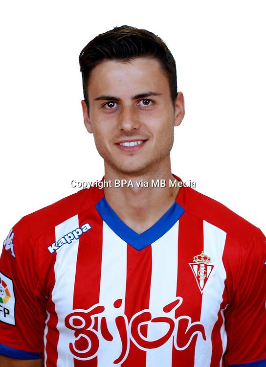 Spain - La Liga Adelante 2014-2015 / <br /> ( Real Sporting de Gijon ) - <br /> Alejandro Serrano Garcia &quot; Alex Serrano &quot;
