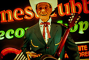 Ernest Tubb wax statue at The Country Music Wax Museum and the Sidewalk of Fame in Nashville, TN (1999)