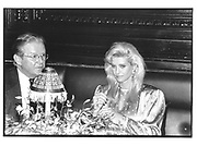 Ivana trump and her divorce lawyer at Caberet at Plaza 1990© Copyright Photograph by Dafydd Jones 66 Stockwell Park Rd. London SW9 0DA Tel 020 7733 0108 www.dafjones.com
