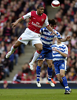 Photo: Olly Greenwood.<br />Arsenal v Reading. The Barclays Premiership. 03/03/2007. Reading's Stephen Hunt and Arsenal's Julio Baptista