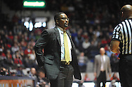 """Ole Miss vs. Missouri coach Frank Haith at the C.M. """"Tad"""" Smith Coliseum in Oxford, Miss. on Saturday, February 8, 2014. Mississippi won 91-88. (AP Photo/Oxford Eagle, Bruce Newman)"""