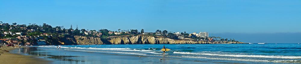California, San Diego, La Jolla, La Jolla Beach, panorama