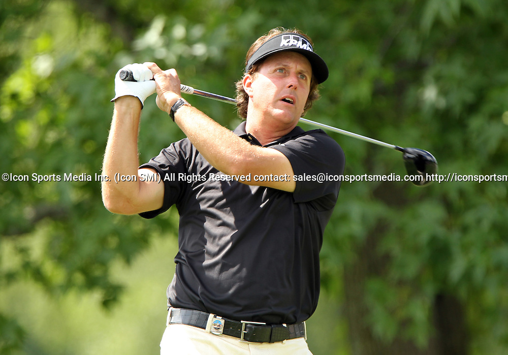 August 10 2013 Phil Mickelson  during the third round of the 95th PGA Championship at Oak Hill Country Club in Rochester, New York.