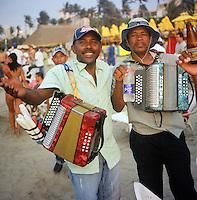 Musicians on the beach in Cartagena, Colombia. (Photo/Scott Dalton)