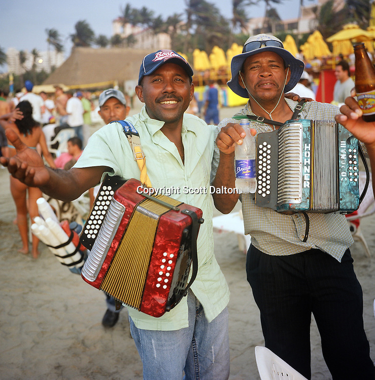Musicians on the beach in Cartagena, Colombia. (Photo/Scott Dalton)