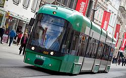 13.03.2012, Graz, AUT, Feature, im Bild eine Strassenbahn der GVB Linie 7 Richtung Wetzelsdorf, EXPA Pictures © 2012, PhotoCredit: EXPA/ Erwin Scheriau
