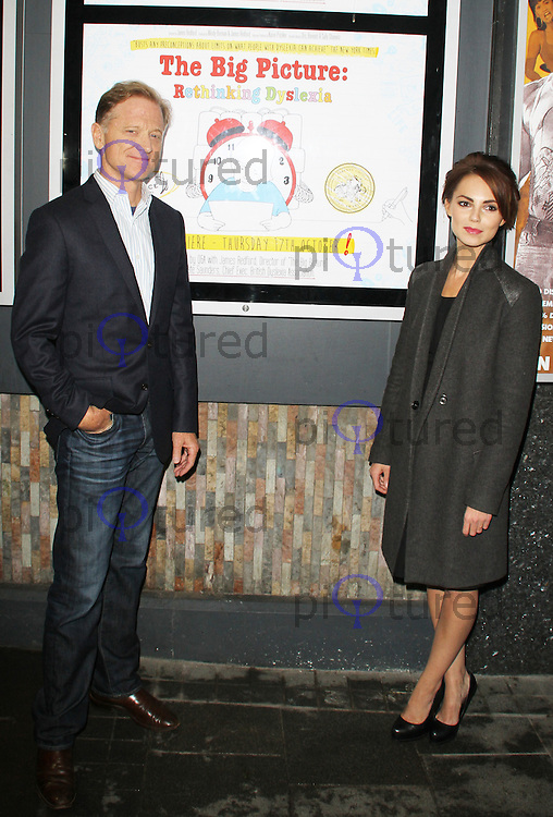 James Redford & Kara Tointon, The Big Picture: Re-Thinking Dyslexia - UK Premiere, Prince Charles Cinema Leicester Square, London UK, 17 October 2013 (Photo by Brett D. Cove)