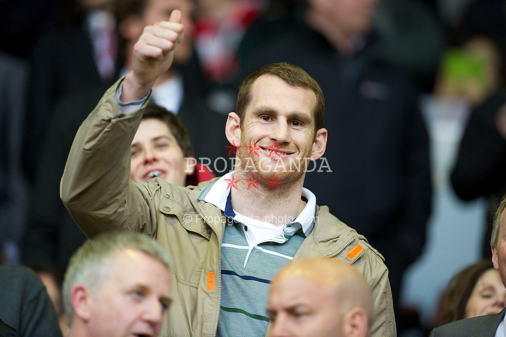 LIVERPOOL, ENGLAND - Tuesday, May 8, 2012: Liverpool boxer David Price before Liverpool's final home Premiership match of the season against Chelsea at Anfield. (Pic by David Rawcliffe/Propaganda)