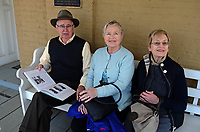 Neil Bromilow, Gibsonville, NC, Estelle Bromilow and Hazel Patterson outside the Tuolumne County Museum in Sonora, California, USA. 201304171484<br /> <br /> Copyright Image from Victor Patterson, 54 Dorchester Park, Belfast, UK, BT9 6RJ<br /> <br /> Tel: +44 28 9066 1296<br /> Mob: +44 7802 353836<br /> Voicemail +44 20 8816 7153<br /> Skype: victorpattersonbelfast<br /> Email: victorpatterson@me.com<br /> Email: victorpatterson@ireland.com (back-up)<br /> <br /> IMPORTANT: If you wish to use this image or any other of my images please go to www.victorpatterson.com and click on the Terms & Conditions. Then contact me by email or phone with the reference number(s) of the image(s) concerned.