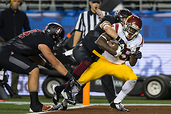 SANTA CLARA, CA - DECEMBER 05:  Running back Ronald Jones II #25 of the USC Trojans scores a touchdown against the Stanford Cardinal during the third quarter of the Pac-12 Championship game at Levi's Stadium on December 5, 2015 in Santa Clara, California. The Stanford Cardinal defeated the USC Trojans 41-22.(Photo by Jason O. Watson/Getty Images) *** Local Caption *** Ronald Jones II