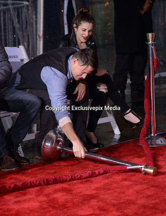 CHANNING TATUM and  Tarantino hands & foot prints ceremony held at the TCL Chinese theatre. January 5, 2016<br /> ©Exclusivepix Media
