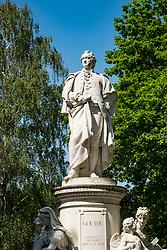 Goethe statue in Tiergarten park in Berlin, Germany