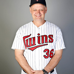 Feb 19, 2013; Fort Myers, FL, USA; Minnesota Twins bench/catching coach Terry Steinbach (36) poses for a portrait during photo day at Hammond Stadium. Mandatory Credit: Derick E. Hingle-USA TODAY Sports