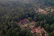 Aerial view of Wat Preah Ko, south of Siem Reap, Cambodia.