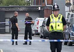 © Licensed to London News Pictures.  20/09/2017; Newport, UK. Police have closed off streets in Newport and are searching a property in Jeffrey Street, after a third man was arrested on 19 September over last week's Tube attack in Parsons Green. The 25-year-old was arrested in Newport, south Wales, on Tuesday evening, Scotland Yard said. Picture credit : Simon Chapman/LNP