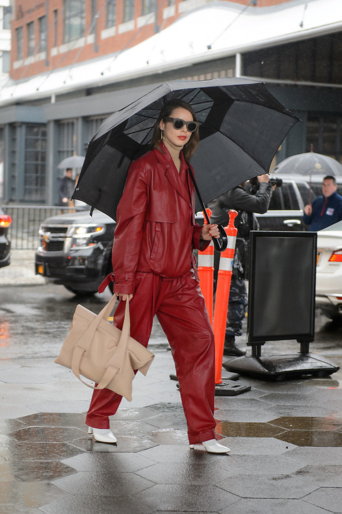 Red Leather Look, Outside Tibi FW2018