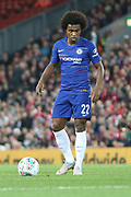 22 Willian for Chelsea FC during the EFL Cup match between Liverpool and Chelsea at Anfield, Liverpool, England on 26 September 2018.