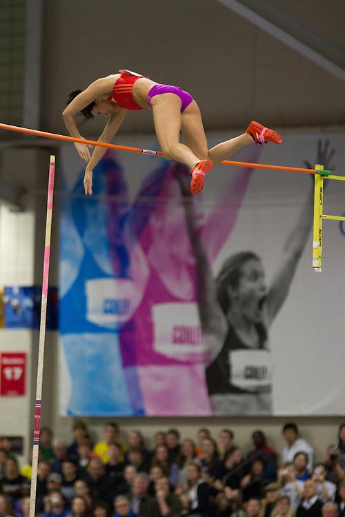 New Balance Indoor Grand Prix track meet: Jenn Shur, wins women's pole vault