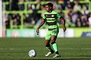Forest Green Rovers Reece Brown(10) during the EFL Sky Bet League 2 match between Forest Green Rovers and Cheltenham Town at the New Lawn, Forest Green, United Kingdom on 20 October 2018.