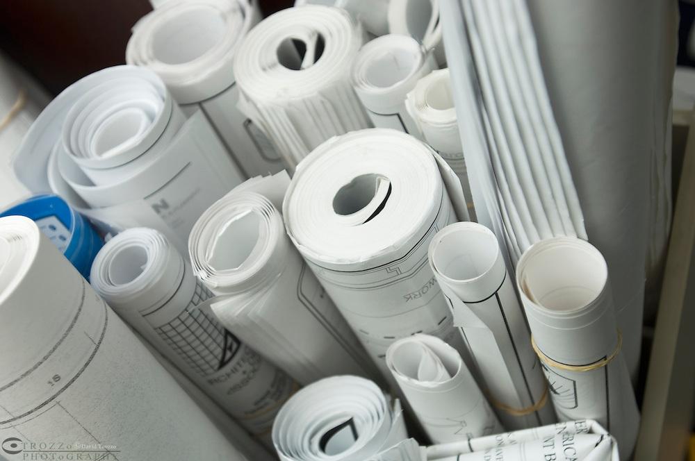 plan, blueprint, design, project, scheme, strategy scolls rolls planning build buildig