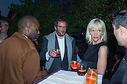 THEASTER GATES; ; IVAN WIRTH; ELIZABETH MURDOCH,, Hauser and Wirth cocktail reception. Palazzo Balbi-Valier, Dorsoduro 866, Venice, Venice Biennale, Venice. 5 May 2015