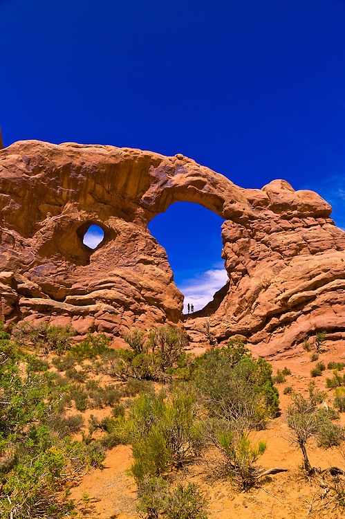 Turret Arch, Arches National Park, near Moab, Utah USA