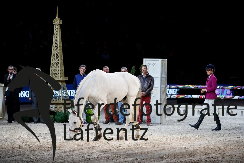 DINIZ Luciana (POR), Winningmood<br /> Paris - FEI World Cup Finals 2018<br /> Verabschiedung Winningmood aus dem Sport<br /> www.sportfotos-lafrentz.de/Stefan Lafrentz<br /> 14. April 2018