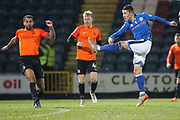 Alex Dobre shoots during the EFL Sky Bet League 1 match between Rochdale and Southend United at Spotland, Rochdale, England on 13 March 2018. Picture by Daniel Youngs.