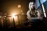 São Paulo / SP - 17.09.2014 - Gravação da propaganda do Canal Combate, Globosat, com a campeã do UFC Ronda Rousey