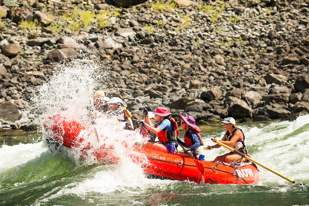 Day 3. Lower Salmon Canyons white water rafting put in near Whitebird in Region II.