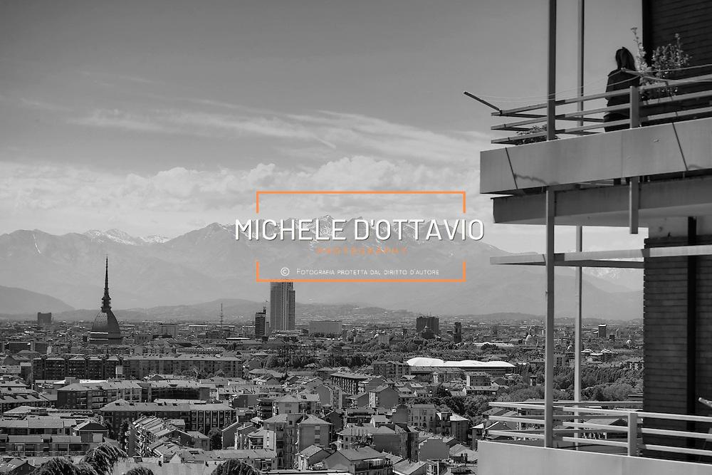 Torino 2016: panoramica della città con Mole Antonelliana e Grattacielo Intesasanpaolo
