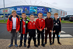 CARDIFF, WALES - Thursday, September 6, 2018: Young Wales supporters ahead of the UEFA Nations League Group Stage League B Group 4 match between Wales and Republic of Ireland at the Cardiff City Stadium. (Pic by Laura Malkin/Propaganda)