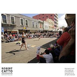 Oz Star Airlines at the Go Wellington Cuba St Carnival at Cuba St, Wellington, New Zealand.