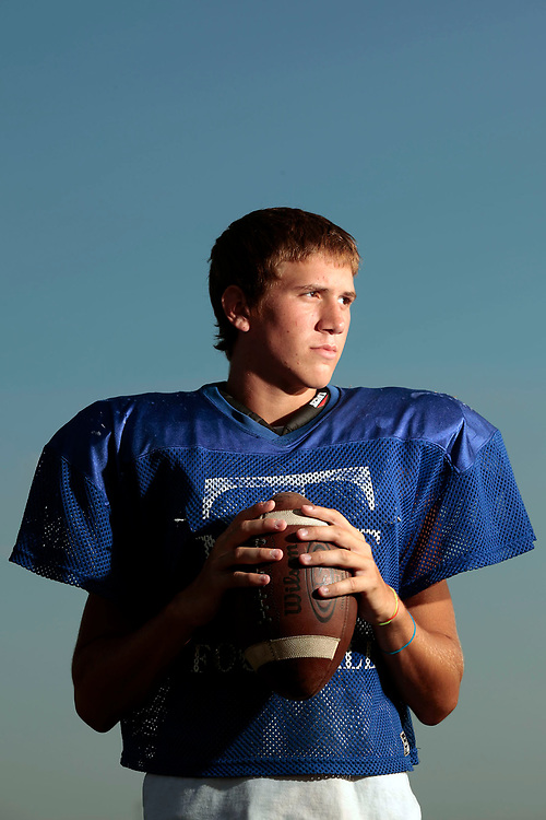 Maroa-Forsyth's Logan Stelzriede poses for a portrait during practice at Maroa-Forsyth High School Wednesday, Aug. 18, 2010, in Maroa, Ill. (Herald & Review/ Stephen Haas)