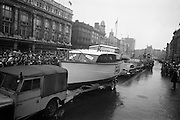 17/03/1964<br /> 03/17/1964<br /> 17 March 1964<br /> St. Patrick's Day Parade, Dublin.  Hickey Boats (Galway) in the parade passing down O'Connell Street.