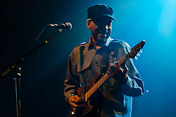 © Licensed to London News Pictures. 08/03/2013. London, UK.   Little Axe performing live at KOKO, supporting headliner Living Colour.   Little Axe is the stage name of Skip McDonald an American musician.  Photo credit : Richard Isaac/LNP
