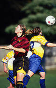 Action during the womens soccer club match between Takapuna and Ellerslie, 16 June, 2002. <br /> Copyright photo: www.photosport.co.nz