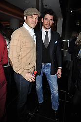Left to right, PAUL SCULFOR and DAVID GANDY at a party to celebrate the 15th birthday of Vogue.com held at W Hotel, Leicester Square, London W1 on 17th February 2011.