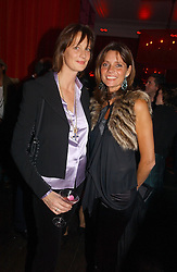 Left to right, LADY RAYLEIGH and her sister COUNTESS DEBBIE VON BISMARCK at a party hosted by jeweller Theo Fennell and Dominique Heriard Dubreuil of Remy Martin fine Champagne Cognac entitles 'Hot Ice' held at 35 Belgrave Square, London, W1 on 26th October 2004.<br />