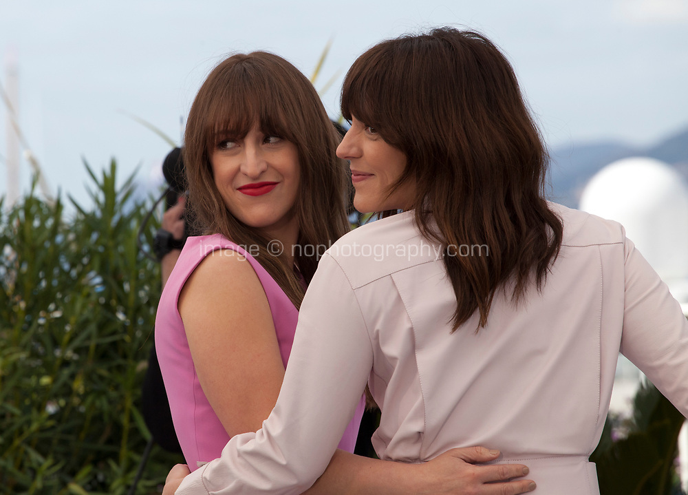 Actress Anne-Elisabeth Bosse and Director Monia Chokri at La Femme De Mon Frere (A Brother's Love) film photo call at the 72nd Cannes Film Festival, Wednesday 15th May 2019, Cannes, France. Photo credit: Doreen Kennedy