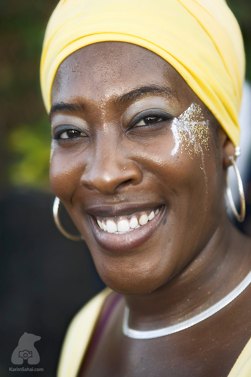 Young black woman smiling, Le Lorrain, Martinique