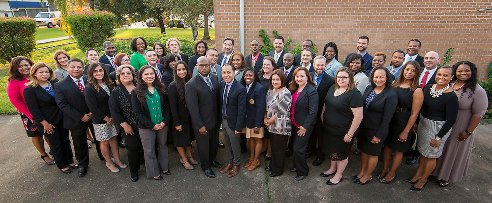 Members of the Fall 2016 Principal Candidate Development Opportunity PCDO cohort pose for a photograph, November 7, 2016.