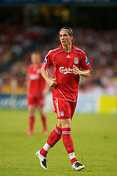 Hong Kong, China - Friday, July 27, 2007: Liverpool's Fernando Torres in action against Portsmouth during the final of the Barclays Asia Trophy at the Hong Kong Stadium. (Photo by David Rawcliffe/Propaganda)