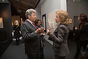 PATRICK PERRIN; LADY WOLFSON, Collector's preview of PAD. Berkeley Sq. London. 8 October 2012.