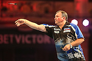 Terry Jenkins during the First Round of the BetVictor World Matchplay Darts at the Empress Ballroom, Blackpool, United Kingdom on 19 July 2015. Photo by Shane Healey.