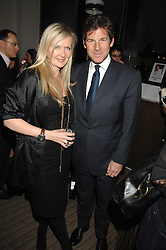 Fashion designer AMANDA WAKELEY and HUGH MORRISON at a party to celebrate the publication of Lisa B's book 'Lifestyle Essentials' held at the Cook Book Cafe, Intercontinental Hotel, Park Lane London on 10th April 2008.<br />