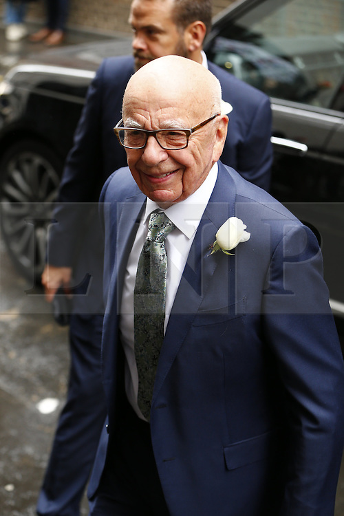 © Licensed to London News Pictures. 05/03/2016. London, UK. Rupert Murdoch arriving to his wedding ceremony to celebrate his marriage with Jerry Hall at St Bride's Church in Fleet Street, London on Saturday, 5 March 2016. Photo credit: Tolga Akmen/LNP
